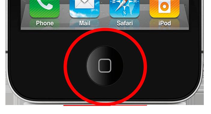 Как сделать кнопку на айфоне 4s